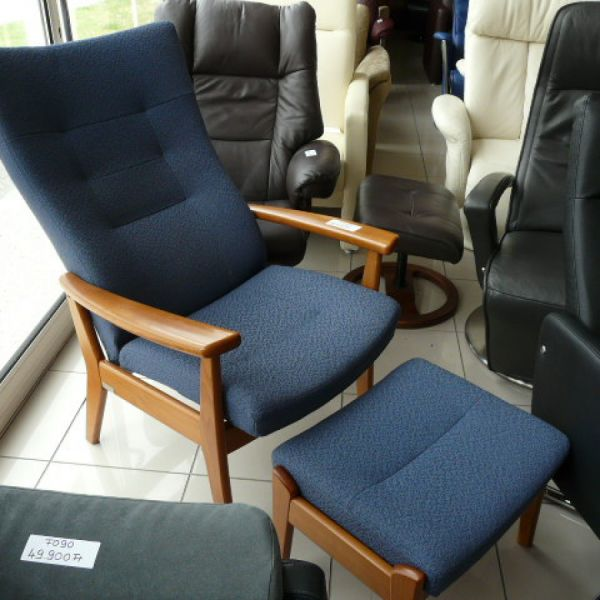 Kék szövet mechanikus Tv fotel F089