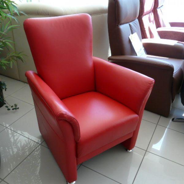 Piros bőr fix Tv fotel F016