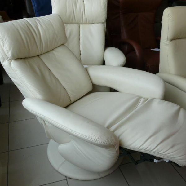 Vaj bőr mechanikus,körbeforgós Relax fotel F062