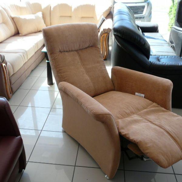 Világos barna szövet mechanikus Relax fotel  F098