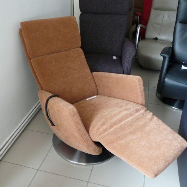 Barna szövet elektromos,körbeforgós  Relax fotel F087