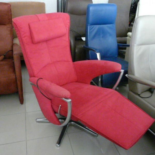 Pink szövet mechanikus,körbeforgós Relax fotel F096