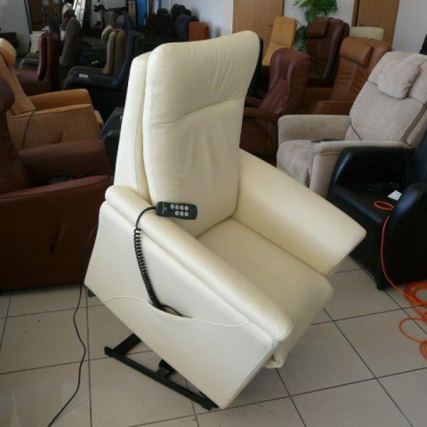 Vaj bőr felállás segítő fotel F019