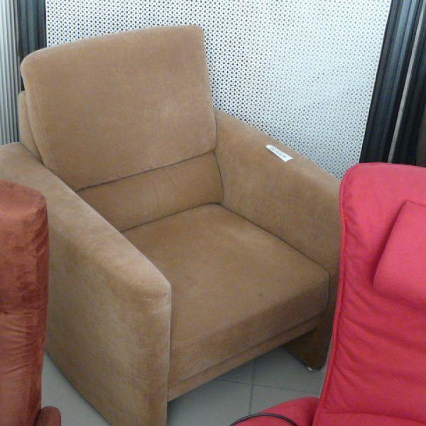 Világos barna szövet fix Tv fotel F101