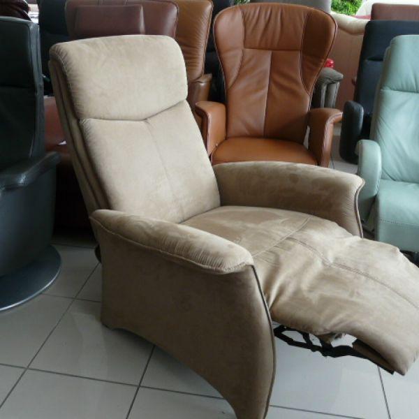 Világos barna szövet, mechanikus Tv fotel F036