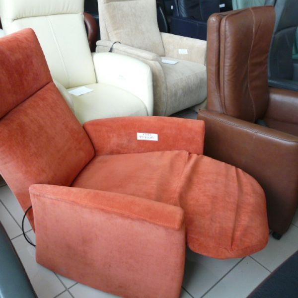 Piros szövet mechanikus Relax fotel F091