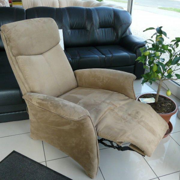 Világos barna szövet, mechanikus Tv fotel F038