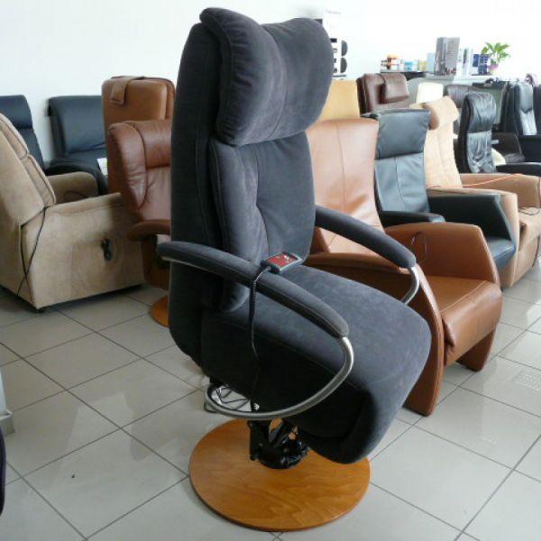 Szürke szövet felállás segítő Relax fotel F033