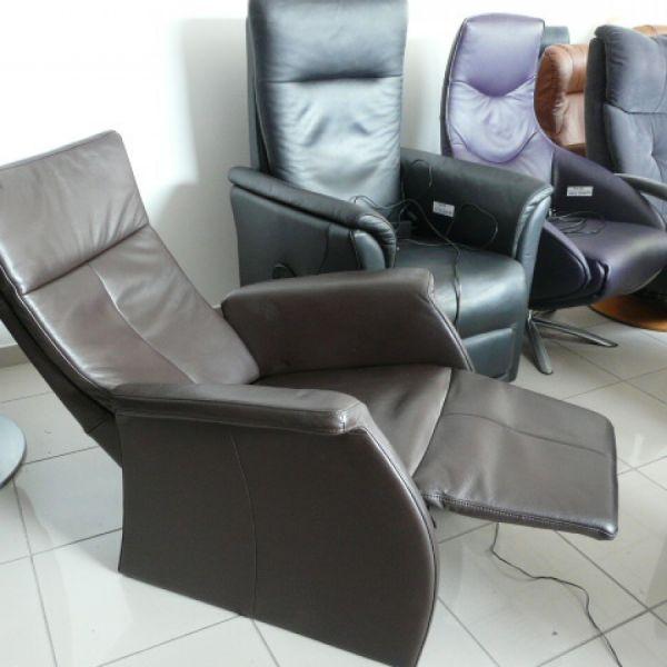 Barna bőr elektromos Relax fotel F041