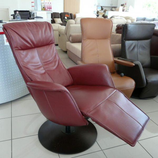 Bordó bőr elektromos Relax  fotel F008