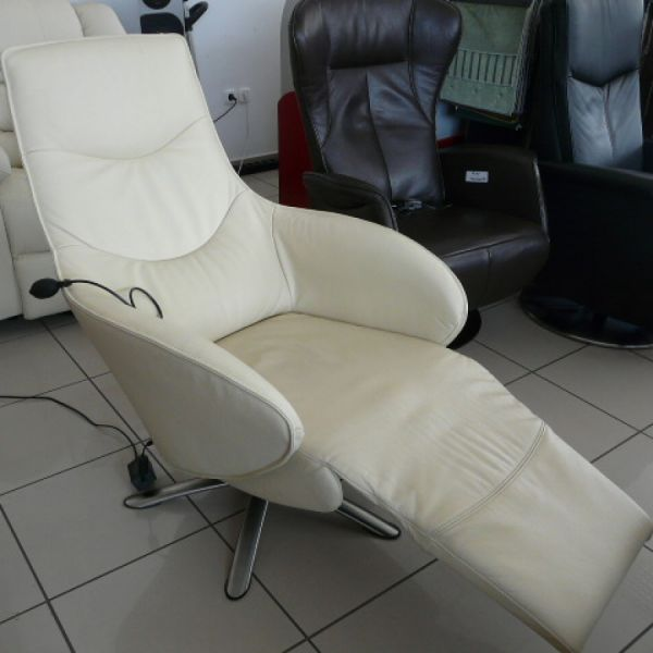 Vaj bőr elektromos,körbeforgós Relax fotel F024
