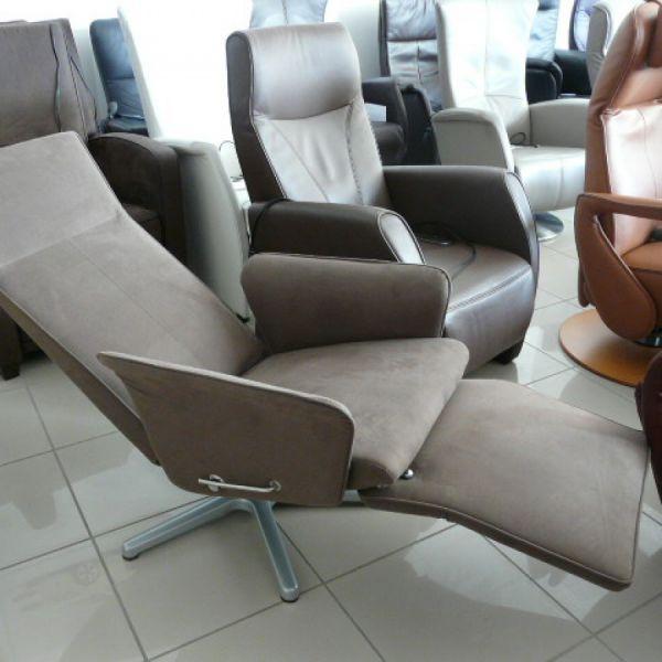 Barna szövet mechanikus,körbeforgós  Relax fotel F049